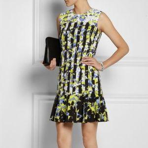 NWT! Peter Pilotto Black Floral Shift Dress Size M